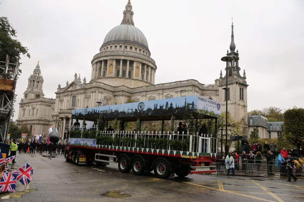 Forest's float passing St Paul's Cathedral.