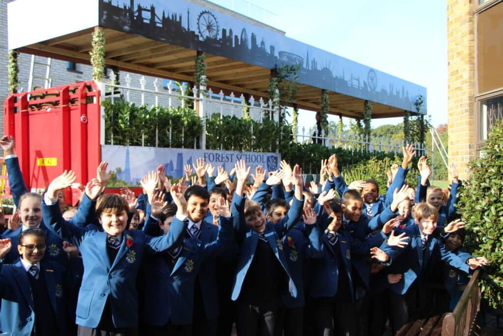 Pre-Prep and Prep pupils waved the float off ahead of the big day.