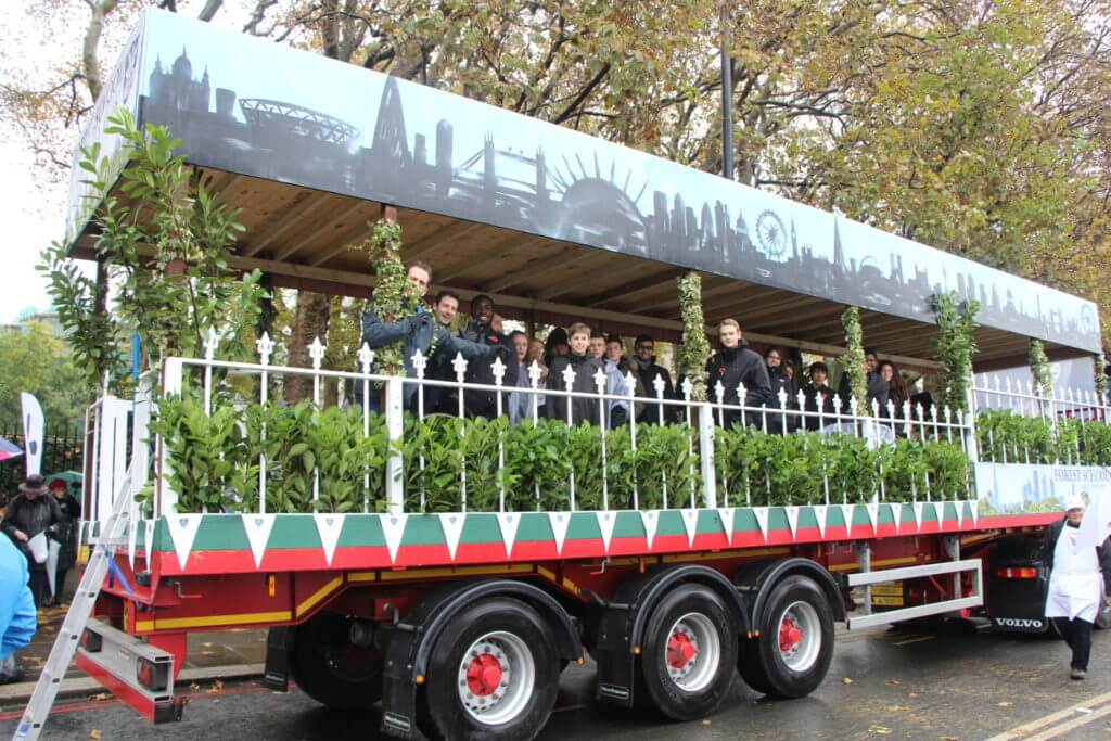 The float celebrated Forest's location on the edge of Epping Forest.